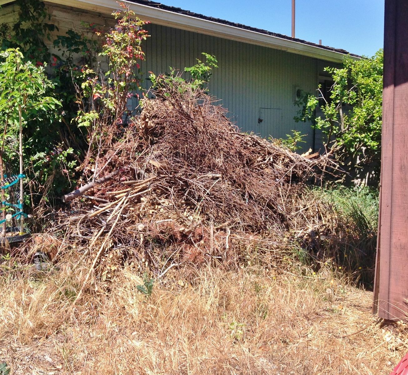 Yard Debris is extra fuel for a wildfire