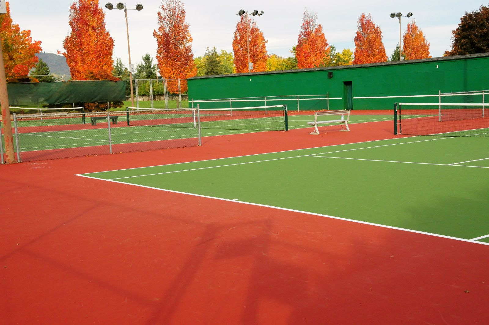 Tennis Courts in Hunter Park