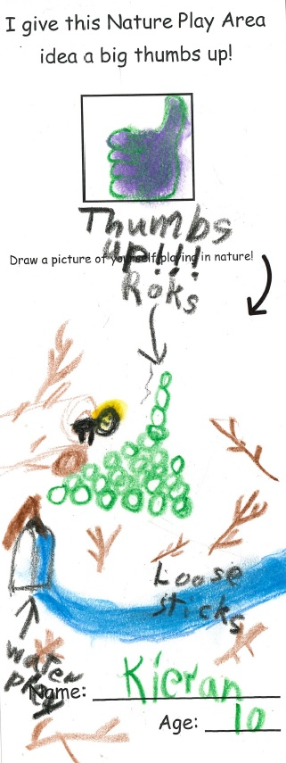 Child's Nature Play Sketch