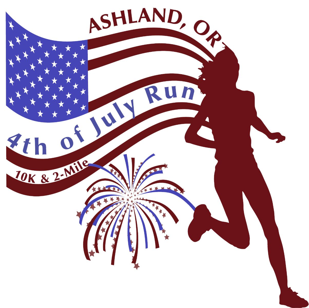4th July Run Event Logo