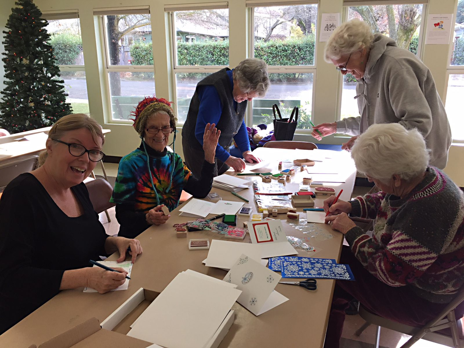 Card-making event at the Ashland Senior Center