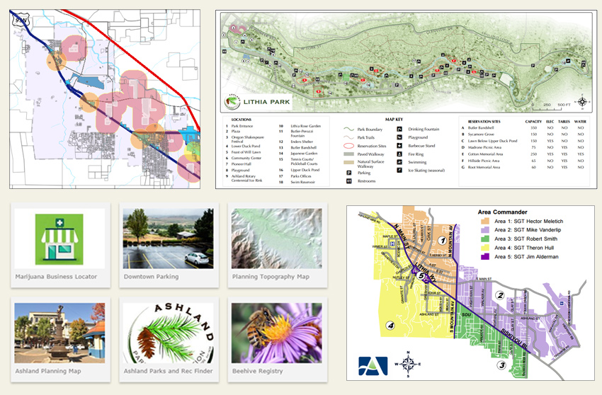 City Of Ashland Oregon Map Center Homepage
